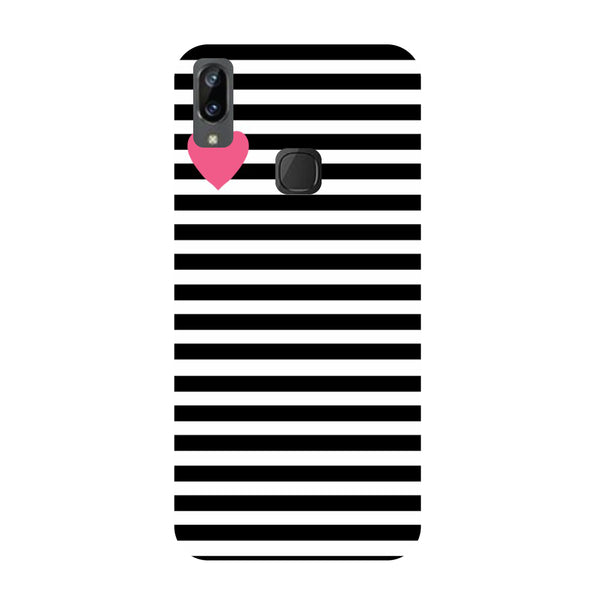 Stripes Heart Vivo Y83 Pro Back Cover-Hamee India