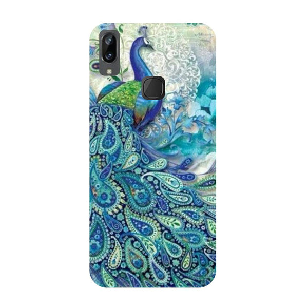 Blue peacock Vivo V3 Max Back Cover-Hamee India