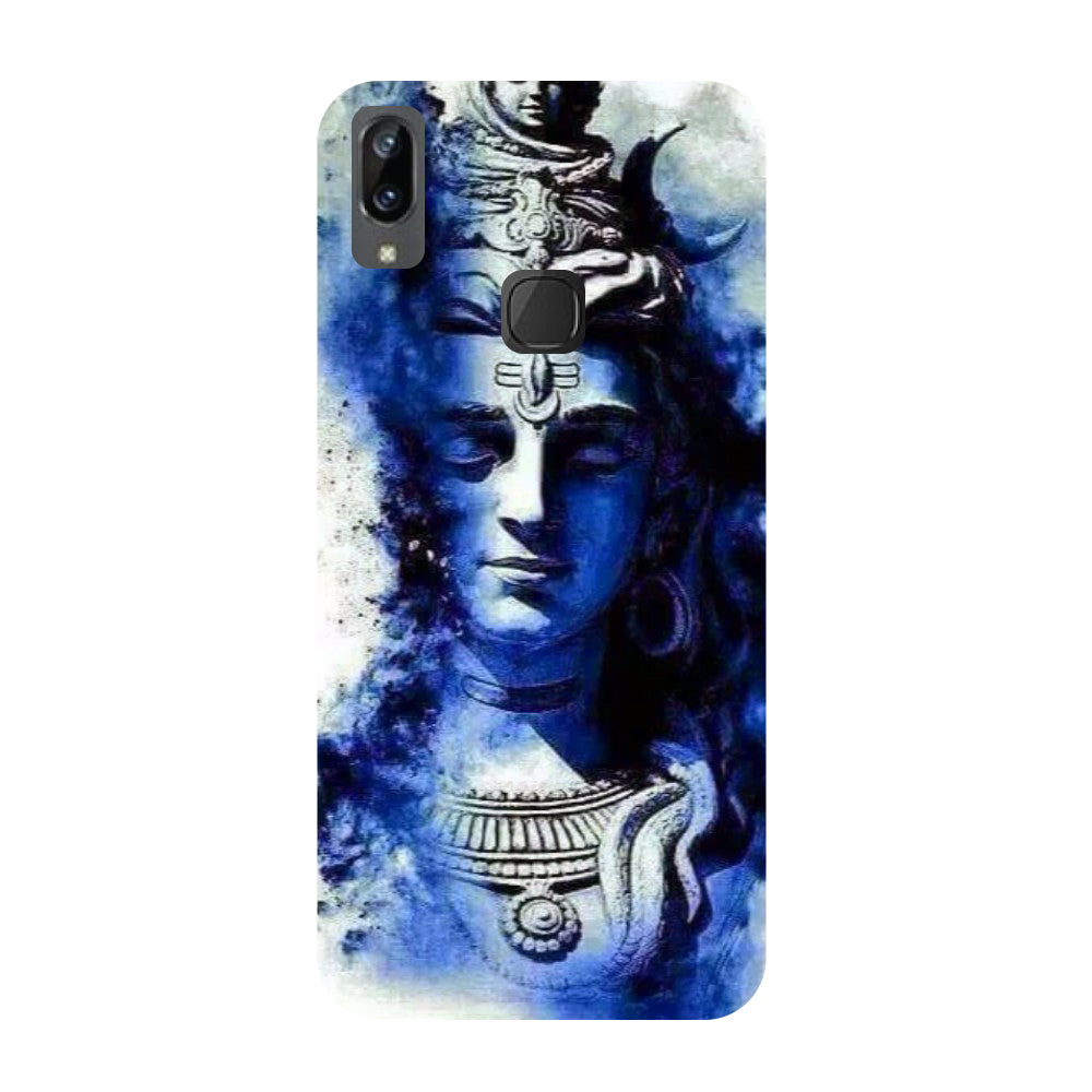 Blue shiva- Printed Hard Back Case Cover for Vivo X21i-Hamee India