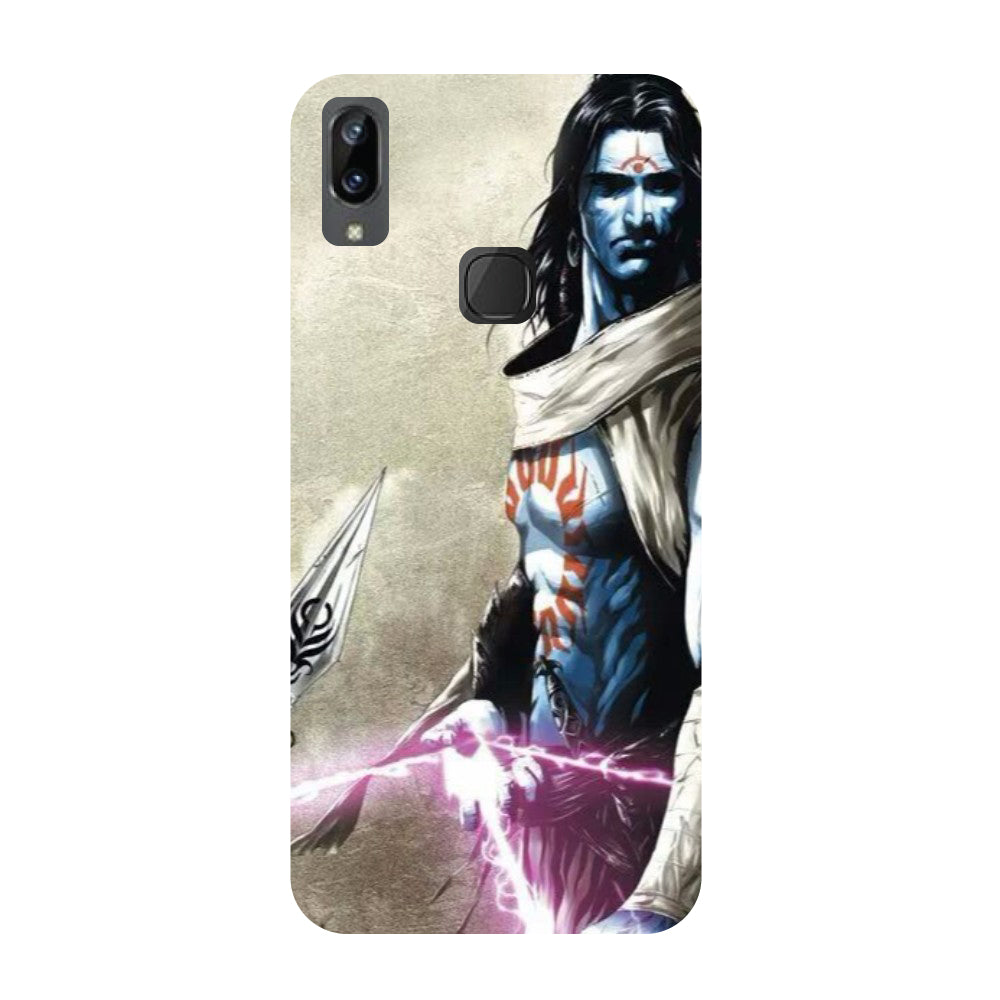 Shiva Side- Printed Hard Back Case Cover for Vivo X21i-Hamee India