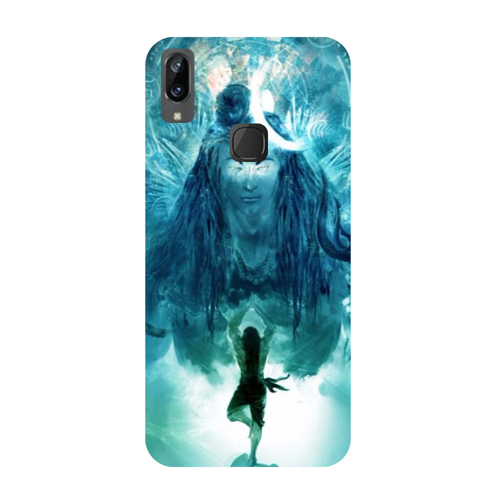 Standing shiv ji- Printed Hard Back Case Cover for Vivo X21i-Hamee India