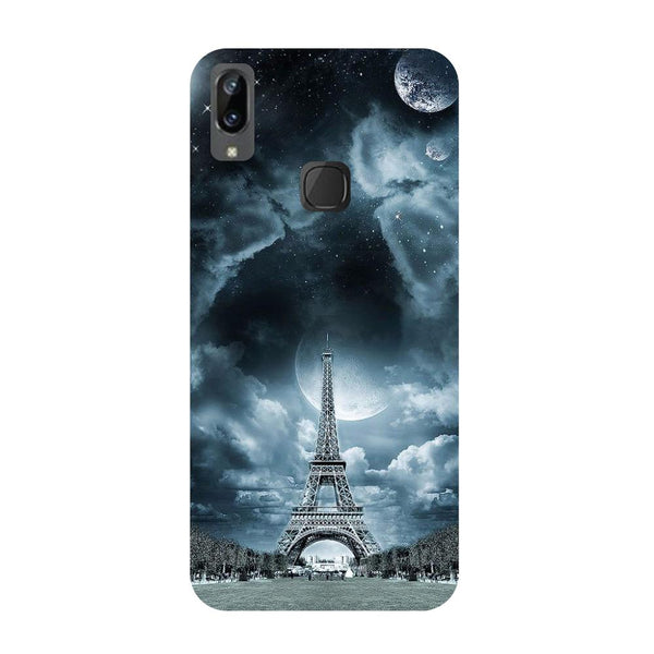 Blue Eiffel Vivo V3 Max Back Cover-Hamee India