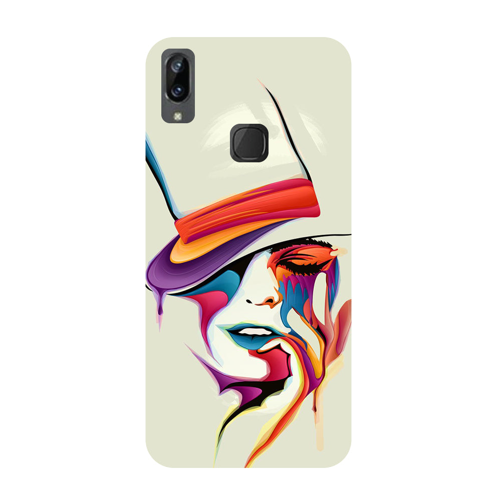 Girl paint- Printed Hard Back Case Cover for Vivo X21i-Hamee India