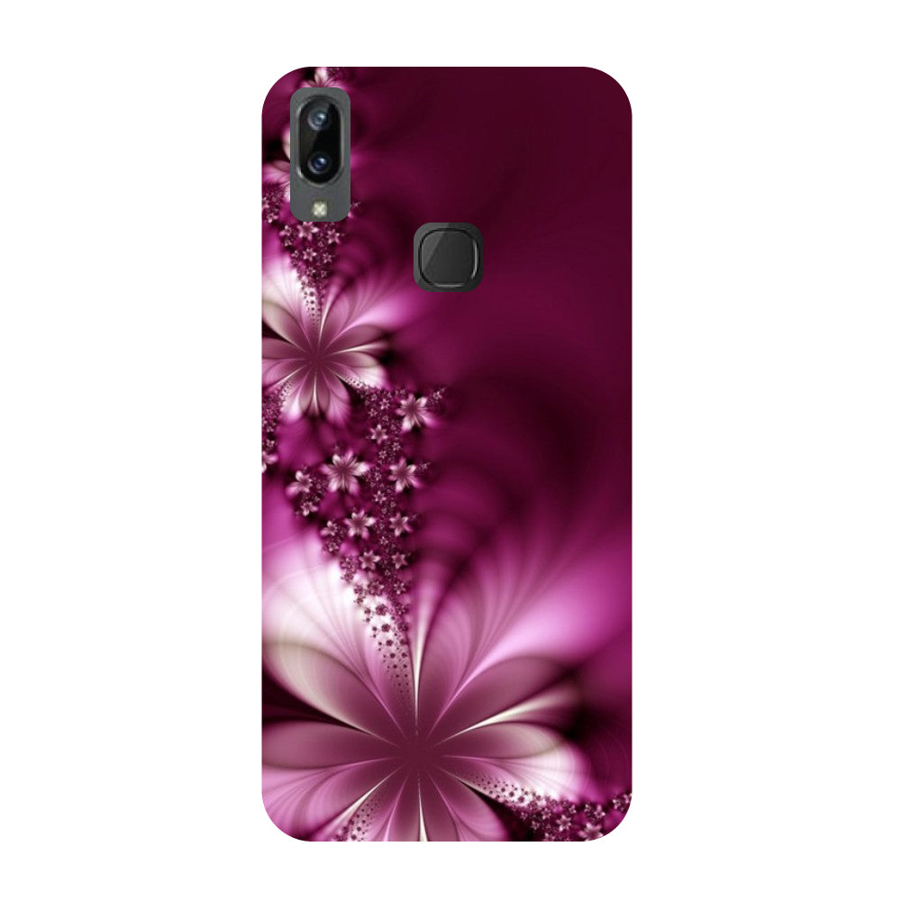 Purple flowers- Printed Hard Back Case Cover for Vivo X21i-Hamee India