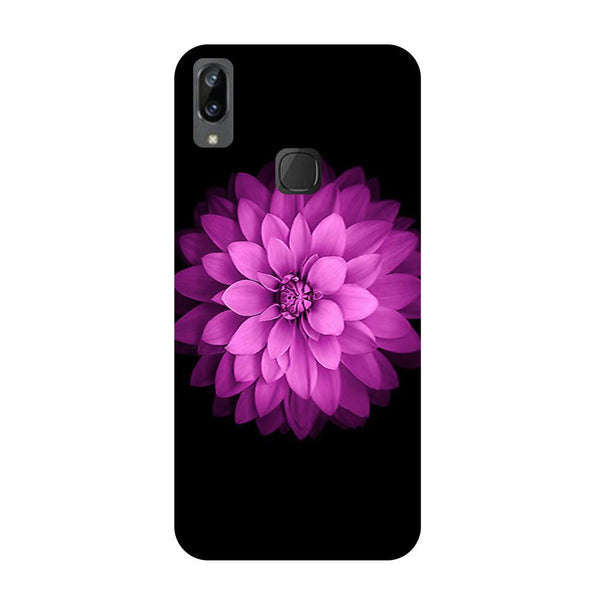 Flower purple Vivo V3 Max Back Cover-Hamee India