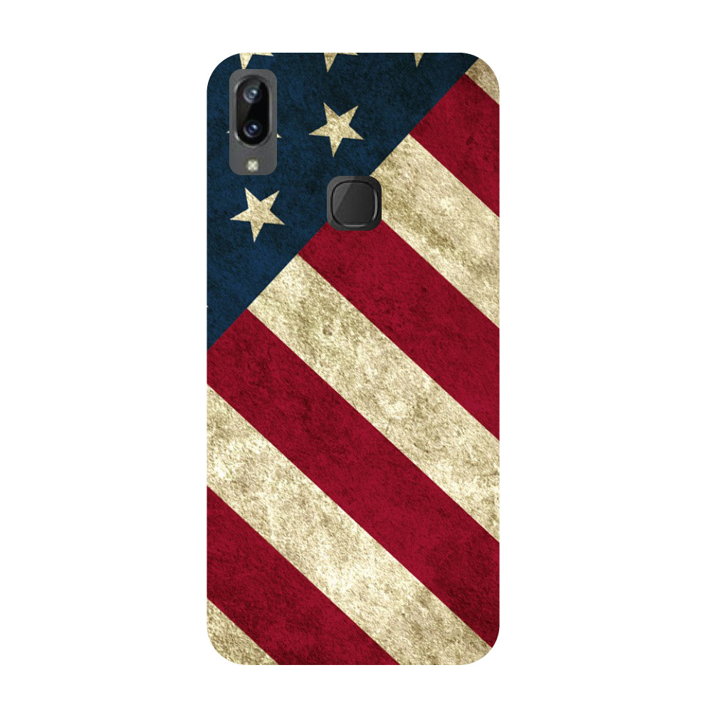 USA flag- Printed Hard Back Case Cover for Vivo X21i-Hamee India