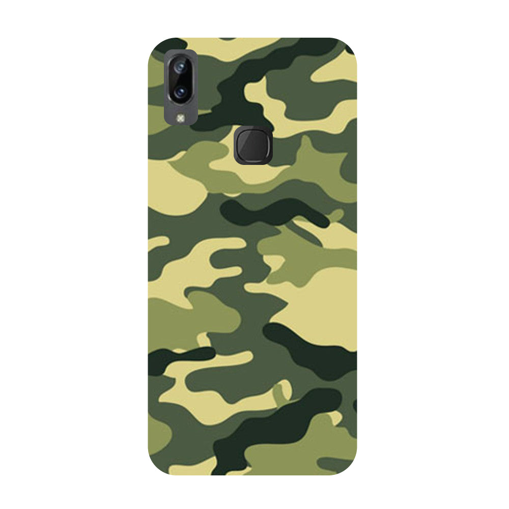 Army Camouflage- Printed Hard Back Case Cover for Vivo X21i