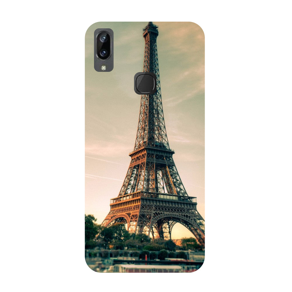 Eiffel- Printed Hard Back Case Cover for Vivo X21i-Hamee India