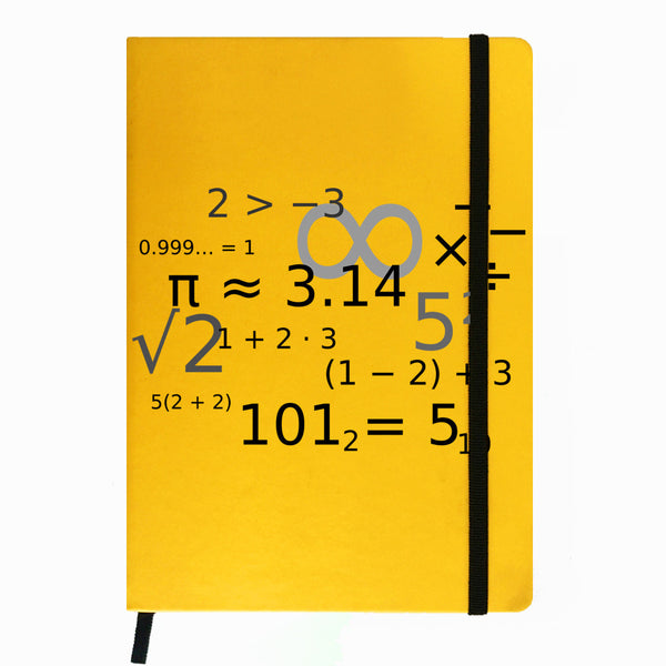 Hamee India - Alpha Math Terms - Yellow Leather Notebook