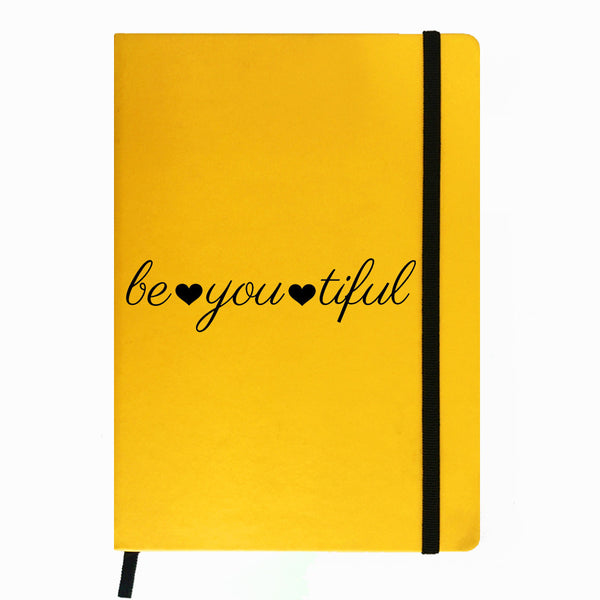 Hamee India - Beautiful - Yellow Leather Notebook