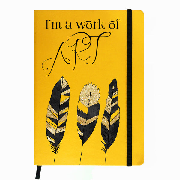 Hamee India - Art - Yellow Leather Notebook