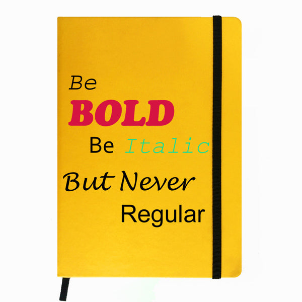 Hamee India - Be Bold - Yellow Leather Notebook