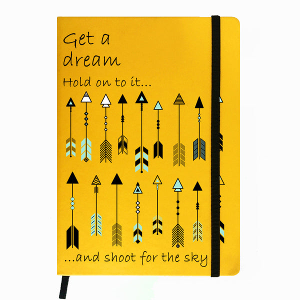 Hamee India - Arrow - Yellow Leather Notebook
