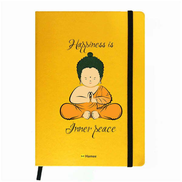 Buddha Peace Yellow Notebook-Hamee India