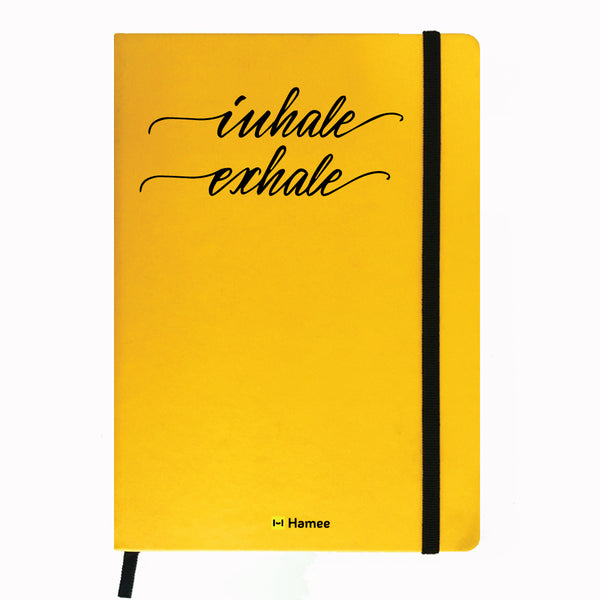 Inhale - Yellow Notebook-Hamee India
