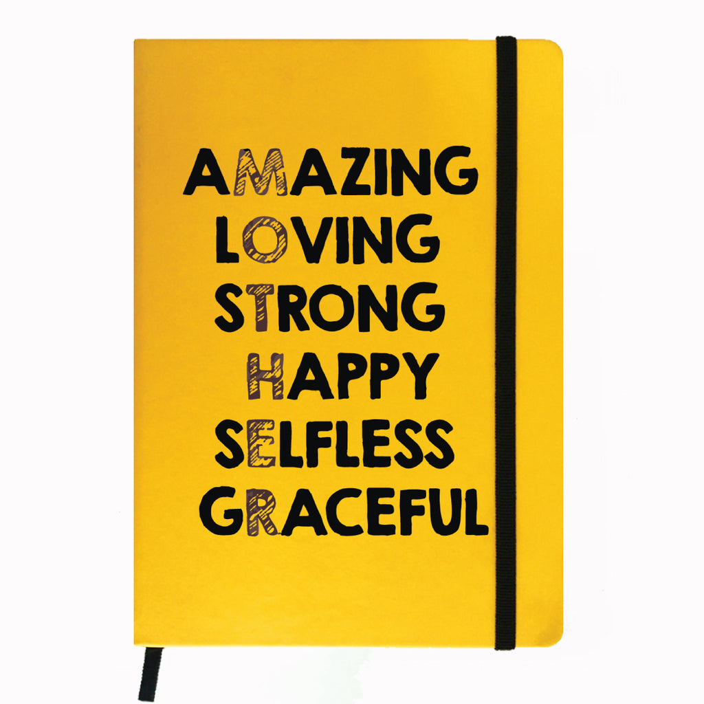 Yellow Notebook- Amazing Mom-Hamee India