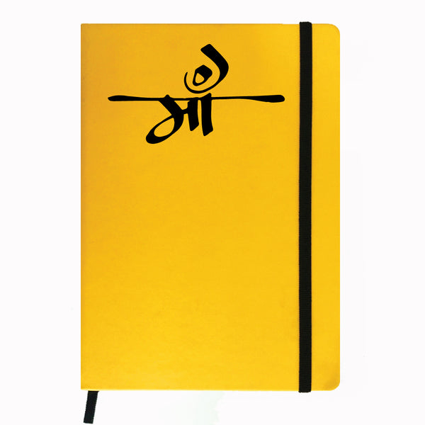 Hamee- Mother's Day Special Yellow Leather Planner / Organizer- Maa