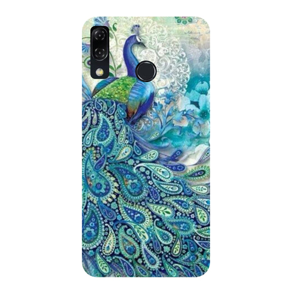 Blue Peacock -Printed Hard Back Case Cover For Zenfone 5Z-Hamee India