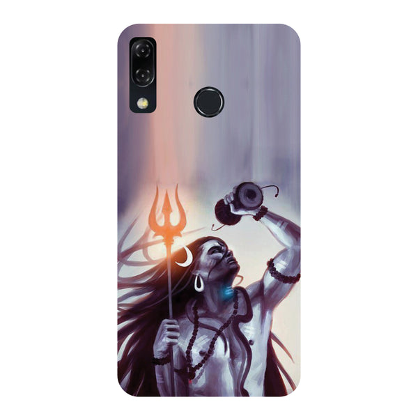Purple Shiva-Printed Hard Back Case Cover For Zenfone 5Z-Hamee India