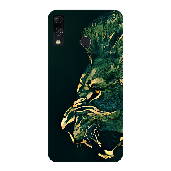 Dark Lion -Printed Hard Back Case Cover For Zenfone 5Z-Hamee India