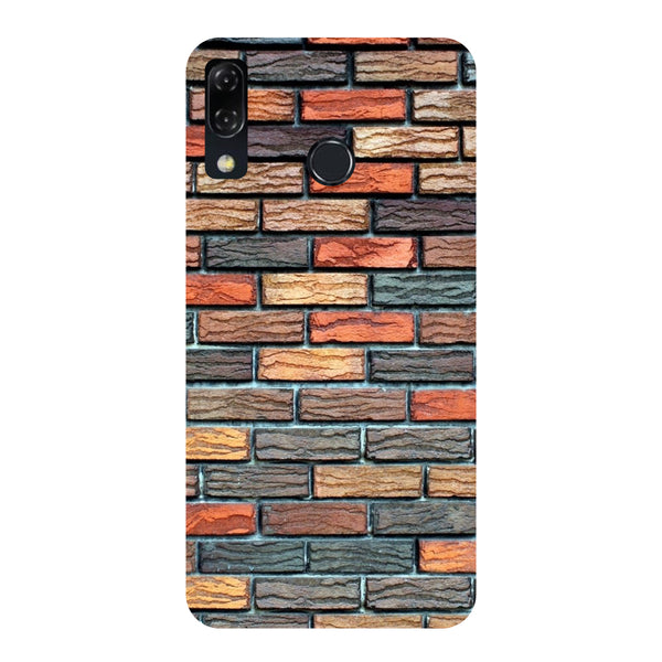 Brick Wall-Printed Hard Back Case Cover For Zenfone 5Z-Hamee India