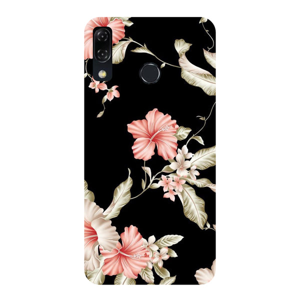 Black Floral Honor Play Back Cover-Hamee India