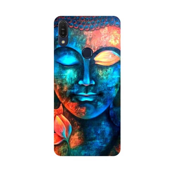 Serene Buddha-Printed Hard Back Case Cover For Zenfone Max Pro M1
