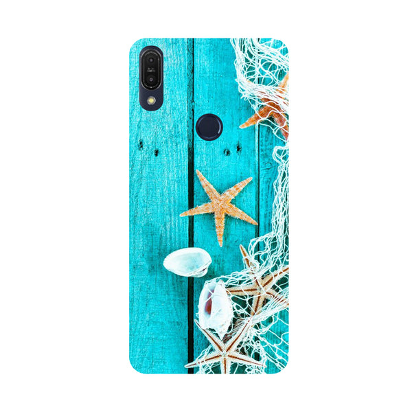 Sea Side-Printed Hard Back Case Cover For Zenfone Max Pro M1