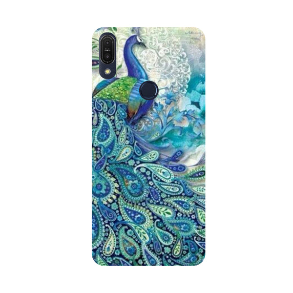 Blue Peacock -Printed Hard Back Case Cover For Zenfone Max Pro M1