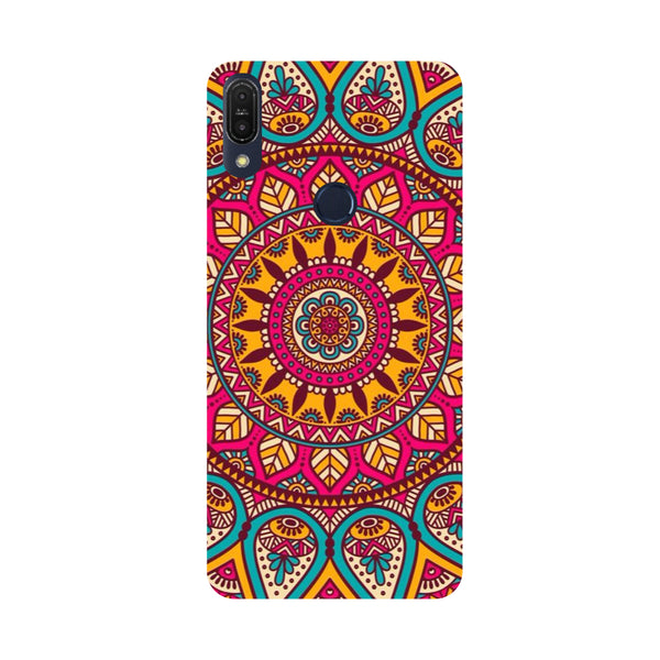 Pink Mandala-Printed Hard Back Case Cover For Zenfone Max Pro M1