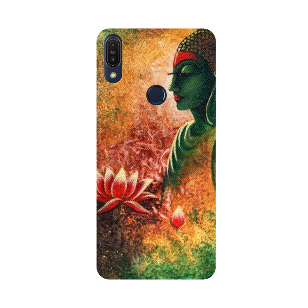 Side Buddha-Printed Hard Back Case Cover For Zenfone Max Pro M1