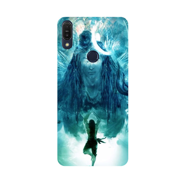 Standing Shiva-Printed Hard Back Case Cover For Zenfone Max Pro M1