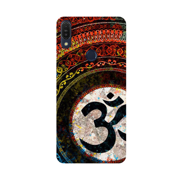 Om Mandala-Printed Hard Back Case Cover For Zenfone Max Pro M1