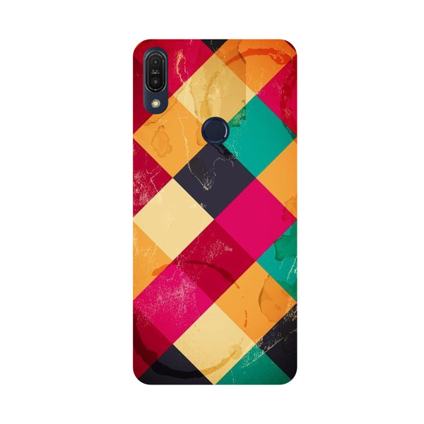 Weave-Printed Hard Back Case Cover For Zenfone Max Pro M1