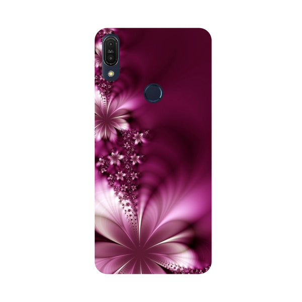 Purple Flowers-Printed Hard Back Case Cover For Zenfone Max Pro M1