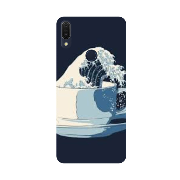 Tea Wave-Printed Hard Back Case Cover For Zenfone Max Pro M1