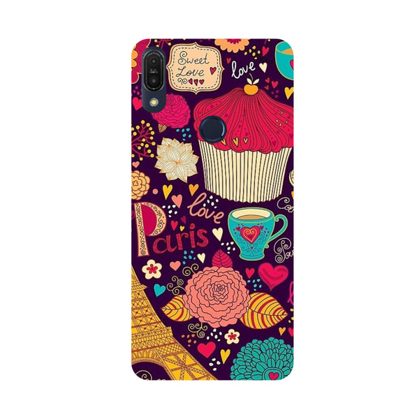 Paris Doodles-Printed Hard Back Case Cover For Zenfone Max Pro M1