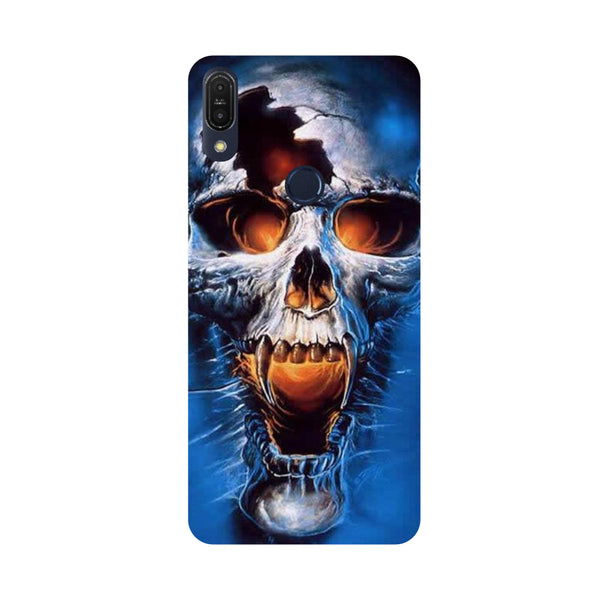 Scary Skull-Printed Hard Back Case Cover For Zenfone Max Pro M1