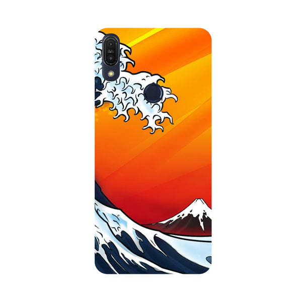 Wave-Printed Hard Back Case Cover For Zenfone Max Pro M1