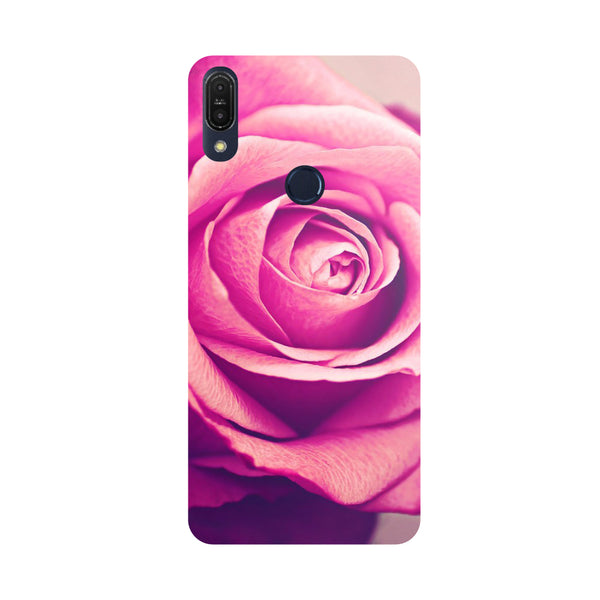 Pink Rose-Printed Hard Back Case Cover For Zenfone Max Pro M1