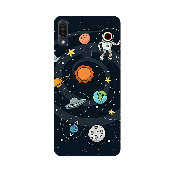 Space-Printed Hard Back Case Cover For Zenfone Max Pro M1