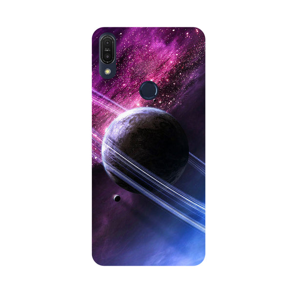 Planet-Printed Hard Back Case Cover For Zenfone Max Pro M1