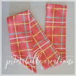 {Electric Watermelon Plaid} Head Wrap