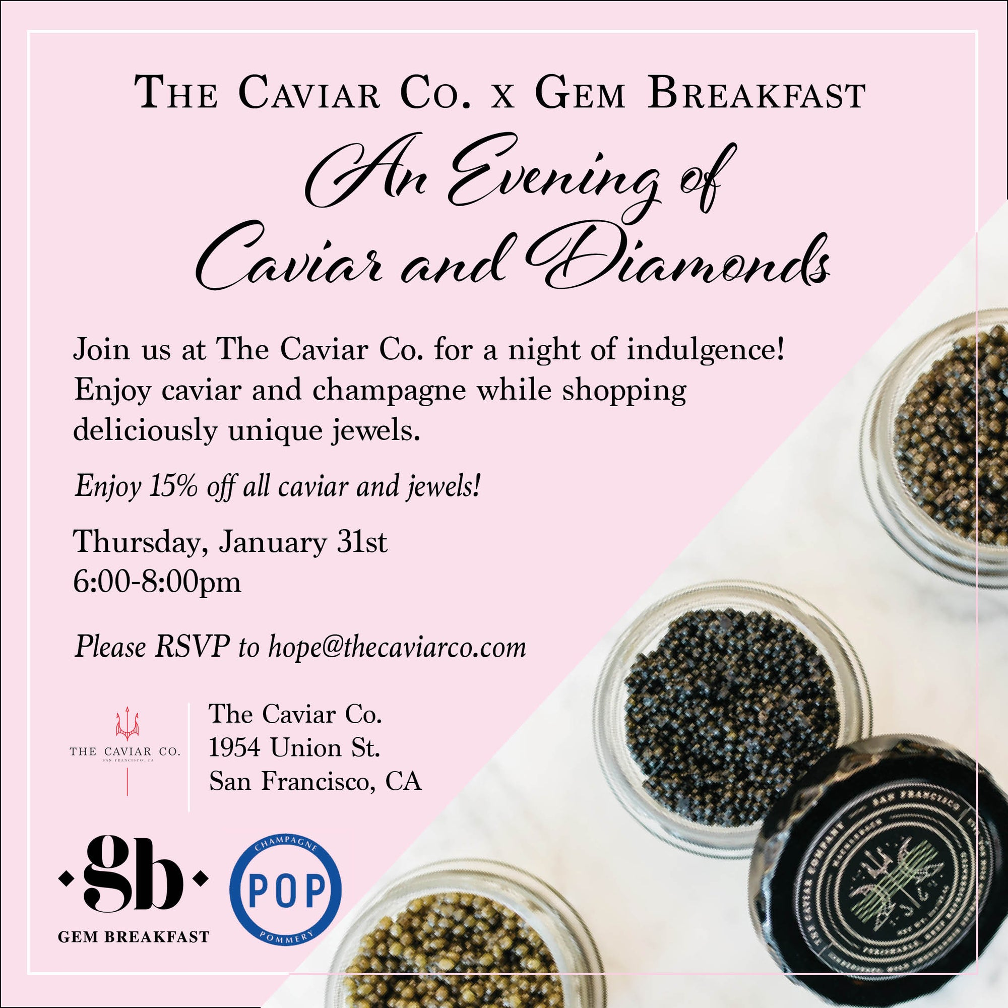 An Evening of Caviar and Diamonds