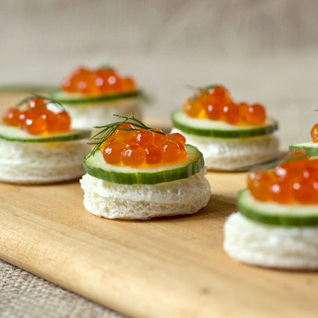 Oh, How Civilized: Cucumber & Salmon Roe Tea Sandwich
