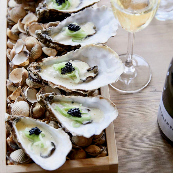 Food & Wine: Poached Oysters with Pickled Cucumber and Caviar