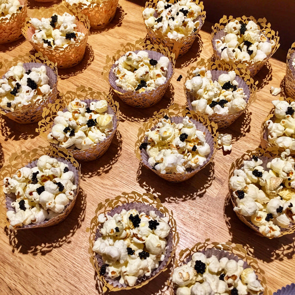 Food La La: Truffle Sea Salt Popcorn Topped with Caviar