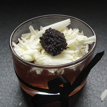 Kitchen Butterfly:  'Sparkling' Jelly, White Chocolate and Caviar Celebration