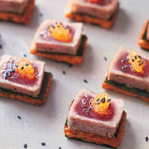 Martha Stewart Weddings: Seared Tuna Steak with Whitefish Roe