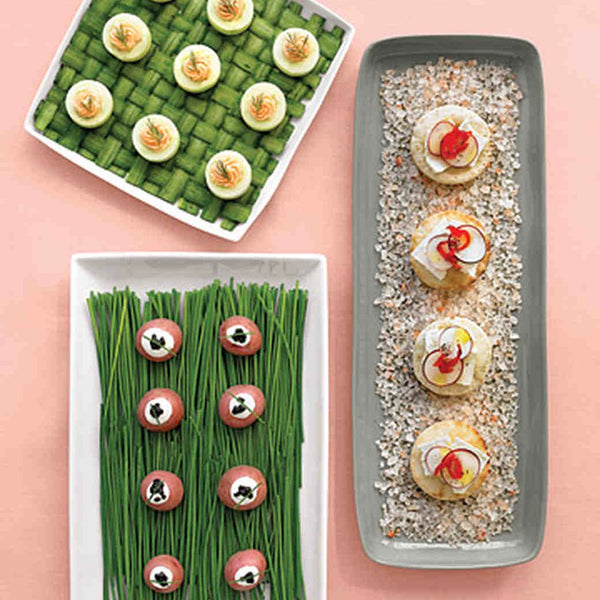 Martha Stewart Weddings: Salmon-Mousse Cucumber Cups